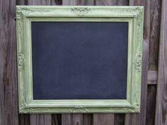 chalk board in antique frame