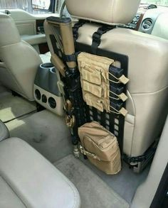 Back of front seat storage