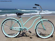"""Firmstrong Diva Single Speed,  Mint Green - Women's 26"""" Beach Cruiser Bike"""