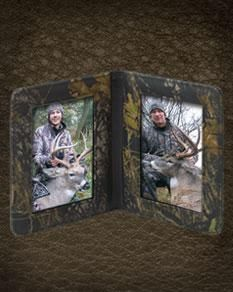 Camo Leather Double Picture Frame