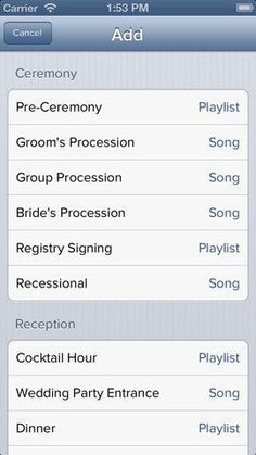 The iPod Wedding DJ: There's an app for that! Check out this great and low-cost iPhone app to make DJing your own wedding super simple!