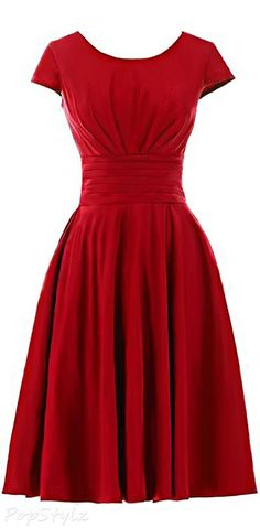 Sunvary Classic Short Sleeves Dress