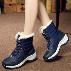 Winter Shoes For Women, Snow Boots Women, Shoes Women, Ladies Shoes, Waterproof Winter Boots, Waterproof Shoes, Warm Snow Boots, Mid Calf Boots, Ankle Boots