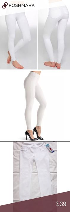 SPANX ASSETS STRUCTURED LEGGINGS JEGGINGS WHITE Spanx Assets Red Hot Label Structured Leggings  Retail $50 Brand new with tag  These ASSETS Red Hot Label by Spanx shaping jeggings combine the style of leggings and the power of shapewear. With a slimming panel built-in to the waistband, you'll feel amazing wearing these women's jeggings.   PRODUCT FEATURES  Built-in invisible shaping  2-pocket & 2-faux pocket  Faux zipper fly & pockets with contrast stitching  Elastic waistband  Body: cotton…