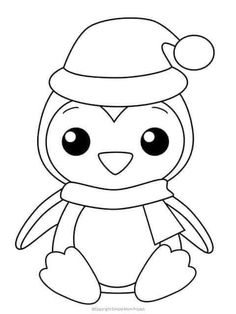 These Christmas coloring sheets are perfect for kids and adults. They include: Santa Claus, ornaments and Christmas trees! Print one or all. Penguin Coloring Pages. Penguin Coloring Pages, Cute Coloring Pages, Coloring Pages For Kids, Coloring Books, Coloring Set, Free Coloring Sheets, Coloring Pages Winter, Coloring Pictures For Kids, Fairy Coloring