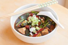 Mission Chinese Style Tofu with Radish and Shiso