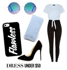 """""""limit: 50"""" by sarah-datri ❤ liked on Polyvore featuring New Look, Forever 21 and Dressunder50"""