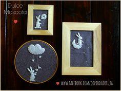 """da coleção """"conejitos en cielo estrellado"""" gris/blanco. Com linha que brilha no escuro  www.facebook.com/oopiodacoruja"""