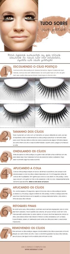 Get all your questions about false eyelashes. See how to put false eyelashes properly and how best to remove. www.meninait.com