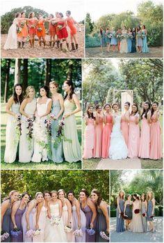 Ombré bridesmaids