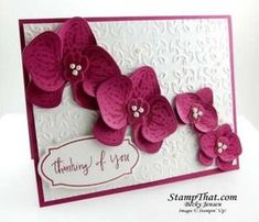 Climbing Orchid Stampin' Up! Stamp Set on Handmade Card