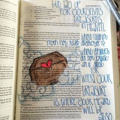 A very peaceful Monday morning. Matthew 6:21-22. #biblejournaling…