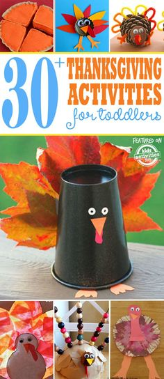 Need to keep the little ones busy? Check out this treasure chest of Thanksgiving crafts for preschoolers!