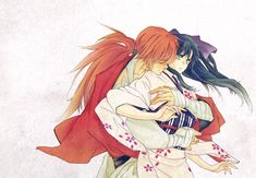 Anime Couples Anime/Manga: Rurouni Kenshin Characters: Kenshin and Kaoru - Rurouni Kenshin, Kenshin Anime, I Love Anime, Me Me Me Anime, Kenshin Le Vagabond, Era Meiji, Samurai Anime, Estilo Anime, Animation