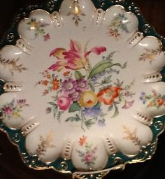 European style painting on porcelain by Shirley Dyer Weston