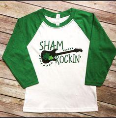 Rock On St Patty's Day Patricks day shirts Rock On St Patty's Day St Pattys Day Outfit, St Patrick's Day Outfit, Outfit Of The Day, St Paddys Day, St Patricks Day, Saint Patricks, Vinyl Shirts, Boys Shirts