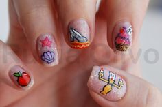 Disney Princess Nail Art