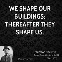 Winston Churchill Architecture Quotes   QuoteHD