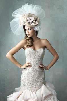 Vintage-inspired wedding gown by Allure Couture #1980s #vintage