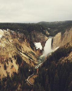 Poster | YELLOWSTONE FALLS von Kevin Russ | more posters at http://moreposter.de