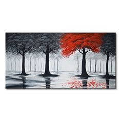 Preview Everfun Art Huge Hand Painted Landscape Oil Paintings On Canvas Modern Wall Decor Art Abstract Tree Artwork for... by Clockertails