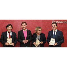 De iz. a dcha.: Alberto Durán, vicepresidente ejecutivo de Fundación ONCE; Juan Merodio, autor del libro; Teresa Palahí, vicepresidenta segunda del Consejo General de la ONCE; Francisco Botía, director de FSC Inserta.