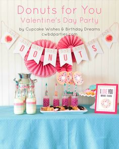 Donuts For You Valentine's Day Party - Everyday Party Magazine