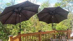 Designed To Dwell: DIY Deck Mounted Umbrellas