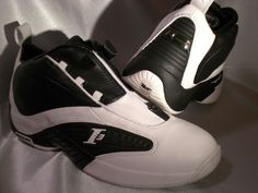 Reebok Answer IV. Cool looking shoe. But worn only for outdoor games, and got pretty shredded pretty fast.