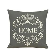 Hoomall Cushion Cover Decor Cute Balloons Animals Printed Pillow Cover Linen Cotton Square Decorative Pillows Back Waist Car Home & Garden