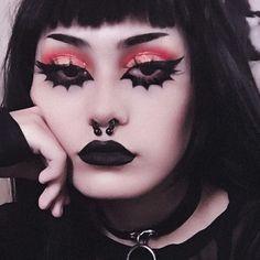 Punk Makeup, Edgy Makeup, Grunge Makeup, Makeup Art, Makeup Inspo, Makeup Inspiration, Beauty Makeup, Pastel Goth Makeup, Grunge Hair