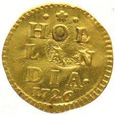 Nederland - Wapenstuiver 1726 (Afslag in goud)