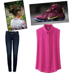 Pink Swag by joigregg on Polyvore featuring polyvore fashion style Uniqlo Anine Bing NIKE
