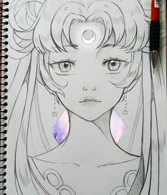Pencil Drawing Tips Sailor Moon Eclipse by larienne - Moon Sketches, Art Drawings Sketches Simple, Cute Drawings, Drawing Tips, Sailor Moon Cat, Arte Sailor Moon, Sailor Venus, Sailor Mars, Desenhos League Of Legends