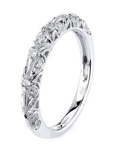 White gold wedding band features innovative filigree channels   http://knot.ly/6499BAoHP