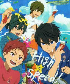 Haru, Asahi, Ikuya, Makoto #Highspeed!
