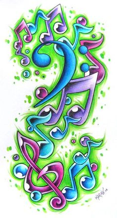 ideas for music tattoo designs inspiration deviantart Music Tattoo Designs, Music Tattoos, Body Art Tattoos, Tatoos, Music Drawings, Music Artwork, Graffiti Drawing, Graffiti Lettering, Music Sketch