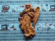 CLEARANCE Wood Carved Angel Wings Wall by TheWoodGrainGallery