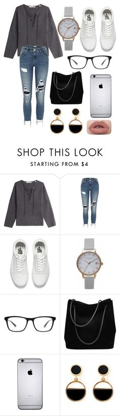 """Street Style #58"" by laughlikecrazy on Polyvore featuring Vince, River Island, Vans, Olivia Burton, Joseph Marc, Gucci and Warehouse"