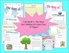 33 Page Foster Care Life Book/ My Story Book by PinkChronicles, $5.00