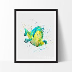Flounder, Little Mermaid from www.vivideditions.com. Saved to top top!. Shop more products from www.vivideditions.com on Wanelo.