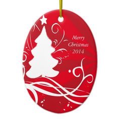 2014 ornament personalize add family name on tree