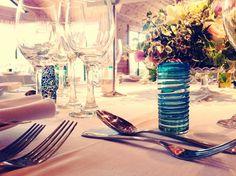 Table decs... individual homemade vases