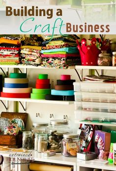 Building a Craft Business - WAHM success for homemade or etsy type sales set ups. WAHM Ideas #WAHM #workathom