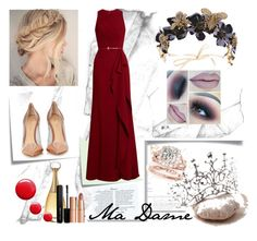 """""""Ma Dame #1"""" by signora-della-notte ❤ liked on Polyvore featuring Elie Saab, Gianvito Rossi, Christian Dior, Topshop, Marc Jacobs, Charlotte Tilbury and Post-It"""