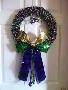 Mardi Gras Wreath Idea