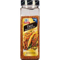 McCormick Taco Seasoning Mix, Premium, 24 oz Mccormick Taco Seasoning, Natural Spice, Natural Herbs, Taco Ingredients, M&m Recipe, Muffin Mix, Hazelnut Spread, Stuffed Peppers, Recipes