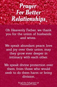 Prayer: For Better Relationships
