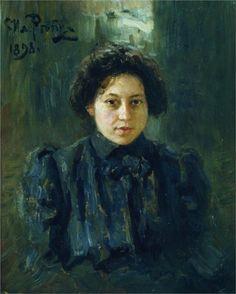 Portrait of the artist daughter Nadezhda, 1898 - Ilya Repin - WikiArt.org