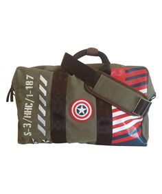 581333718f BB Designs Cap'n America Vintage Military Canvas Duffel Bag - CJ12JH67SNL